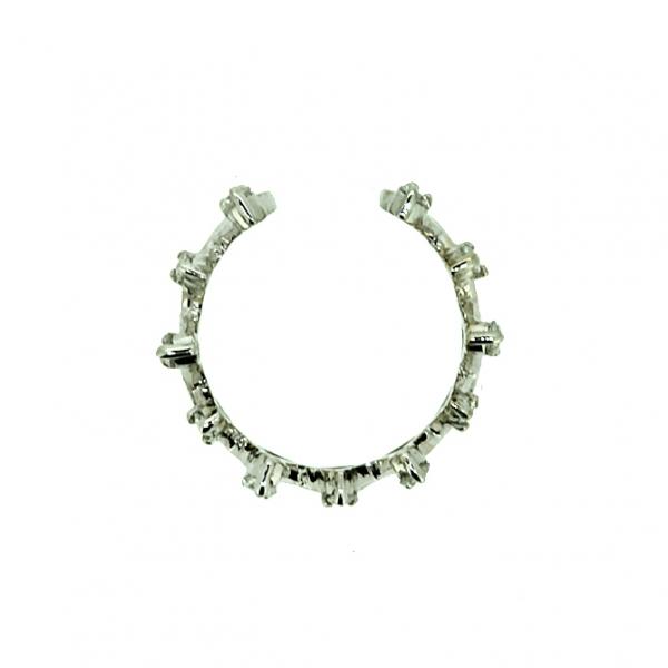 Ювелирные серьга-кафф из белого золота 585 пробы с бриллиантами ED-6939w