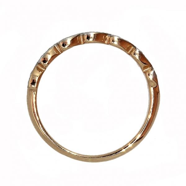 Ювелирное кольцо из красного золота 585 пробы с бриллиантами RD-5554