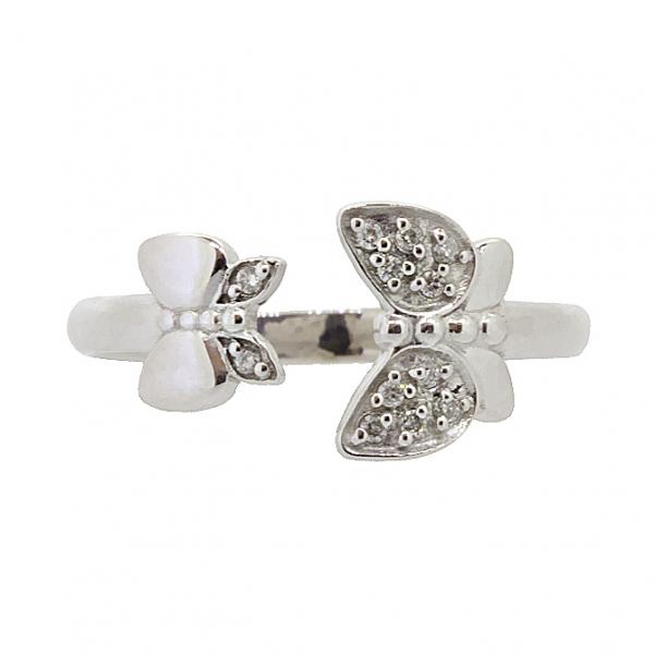 Ювелирное кольцо из белого золота 585 пробы с бриллиантами RD-5607w