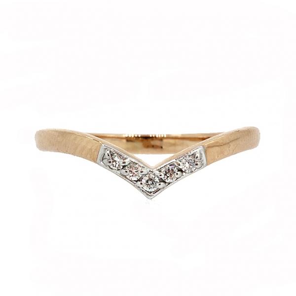 Ювелирное кольцо из красного золота 585 пробы с бриллиантами RD-6842