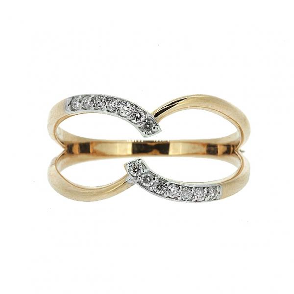 Ювелирное кольцо из красного золота 585 пробы с бриллиантами RD-6887