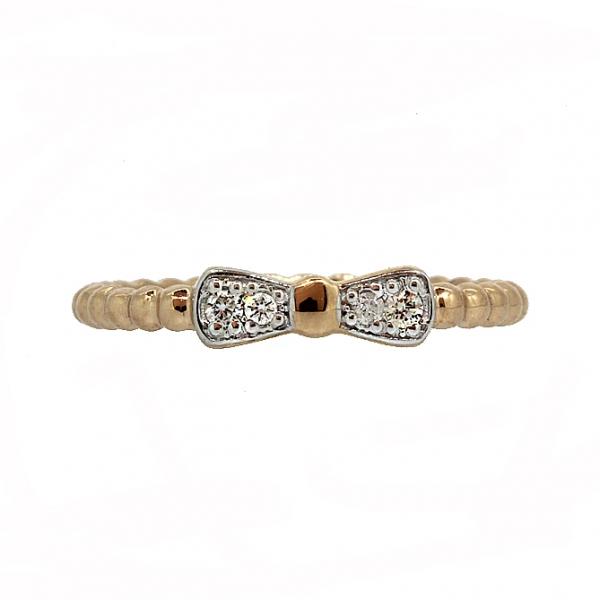 Ювелирное кольцо из красного золота 585 пробы с бриллиантами RD-6914
