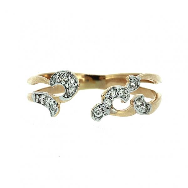 Ювелирное кольцо из красного золота 585 пробы с бриллиантами RD-6915