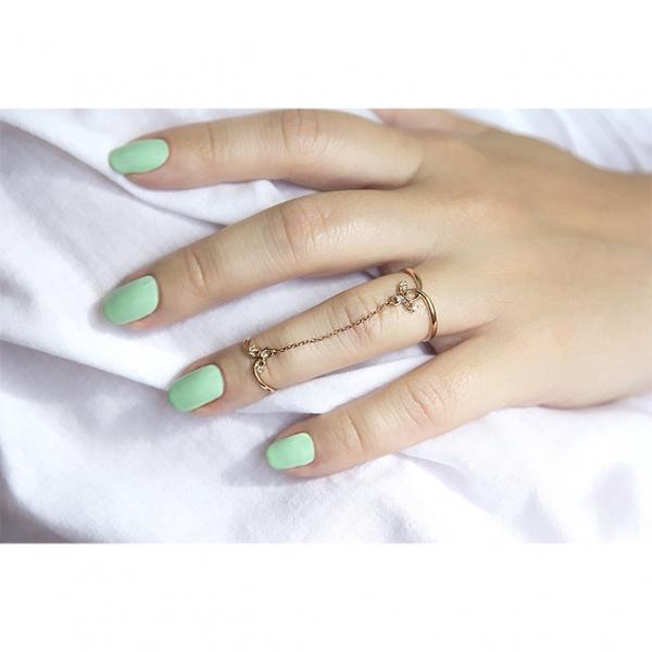 Ювелирное кольцо из красного золота 585 пробы с бриллиантами RD-6918
