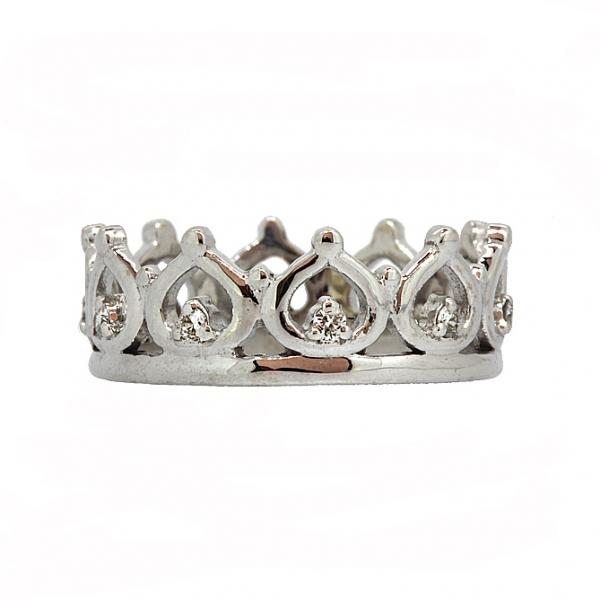 Ювелирное кольцо из белого золота 585 пробы с бриллиантами RD-6925w