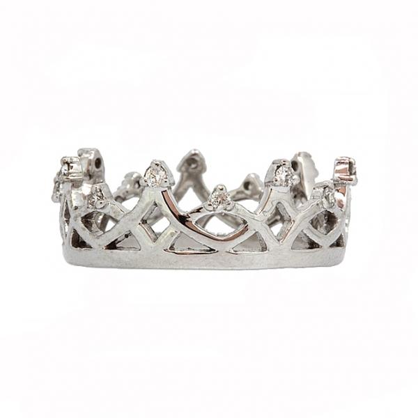 Ювелирное кольцо из белого золота 585 пробы с бриллиантами RD-6926w