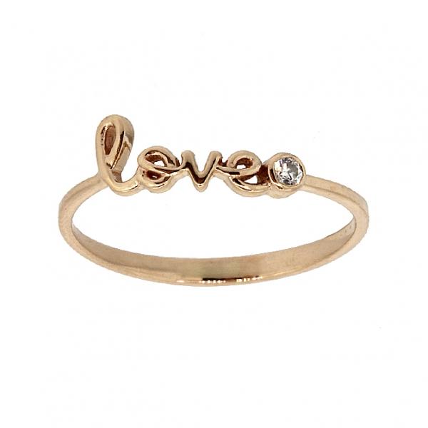 Ювелирное кольцо из красного золота 585 пробы с бриллиантом RD-6929
