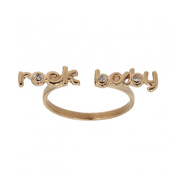 Ювелирное кольцо из красного золота 585 пробы с бриллиантами RD-6932