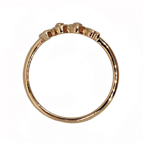 Ювелирное кольцо из красного золота 585 пробы с бриллиантами RD-6935