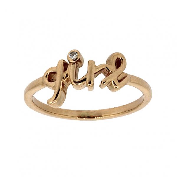 Ювелирное кольцо из красного золота 585 пробы с бриллиантом RD-6936