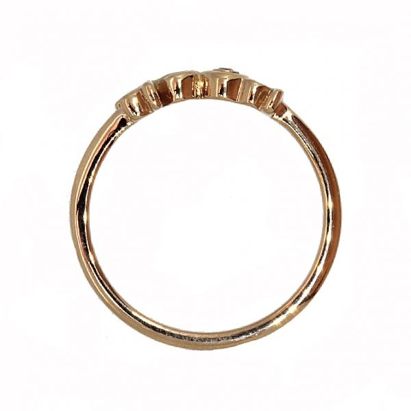 Ювелирное кольцо из красного золота 585 пробы с бриллиантом RD-6937