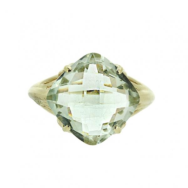 Ювелирное кольцо из жёлтого золота 585 пробы с празиолитом RPras-5560y