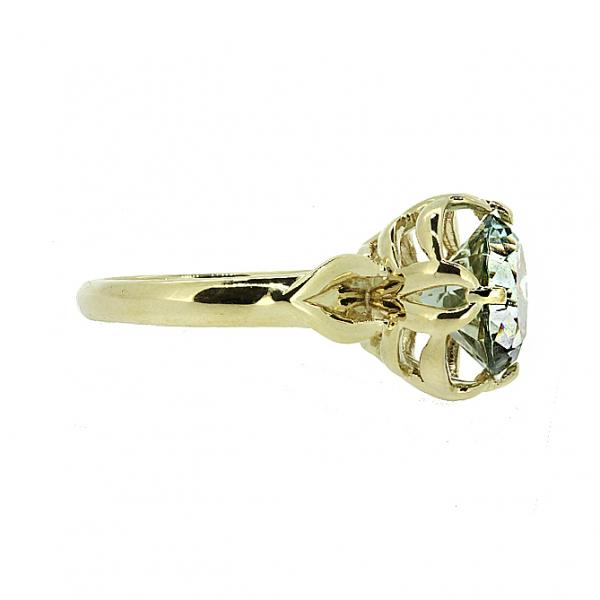 Ювелирное кольцо из жёлтого золота 585 пробы с празиолитом RPras-6857y