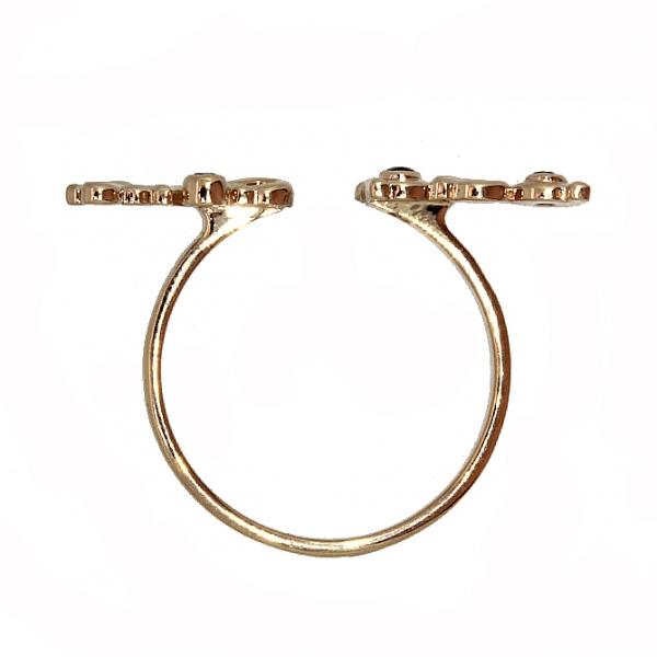Ювелирное кольцо из красного золота 585 пробы с сапфирами RS-6930