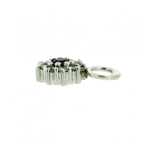 Подвески к серьгам трансформерам из белого золота 585 пробы с сапфирами и бриллиантами TDS-6802w