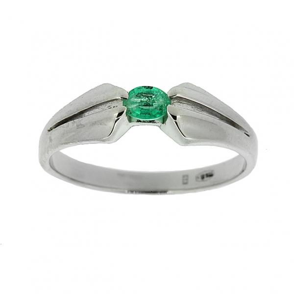Ювелирное кольцо из серебра 925 пробы с изумрудом RE-6029Ag