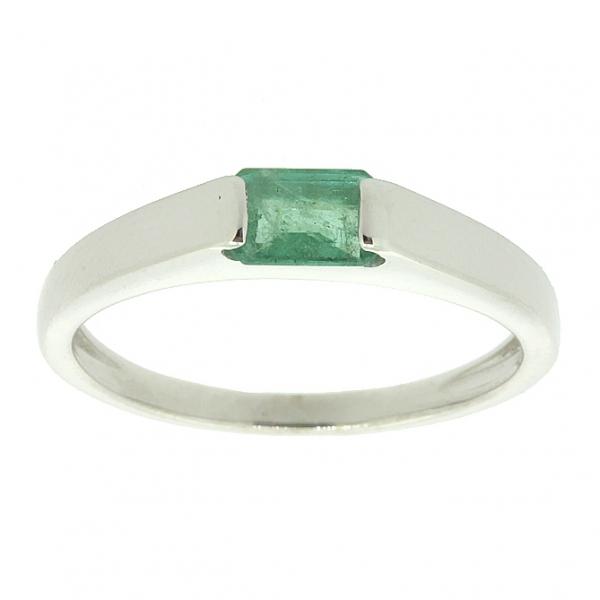 Ювелирное кольцо из серебра 925 пробы с изумрудом RE-6073Ag
