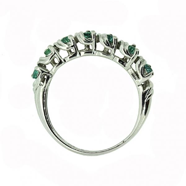 Ювелирное кольцо из серебра 925 пробы с изумрудами RE-6108Ag