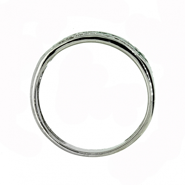 Ювелирное кольцо из серебра 925 пробы с изумрудами и фианитами RCzE-6130Ag