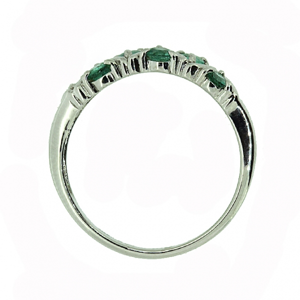 Серебряное кольцо 925 пробы с изумрудами RE-32792Ag