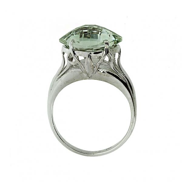 Ювелирное кольцо из серебра 925 пробы с празиолитом RPras-5560Ag