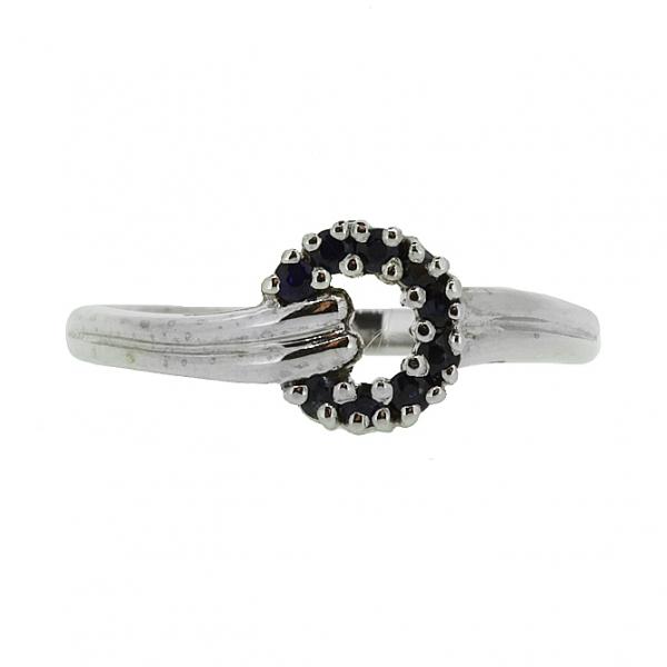 Ювелирное кольцо из серебра 925 пробы с сапфирами RS-1108Ag