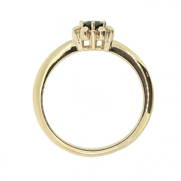 Ювелирное кольцо из красного золота 585 пробы с сапфиром и бриллиантами RDS-5624
