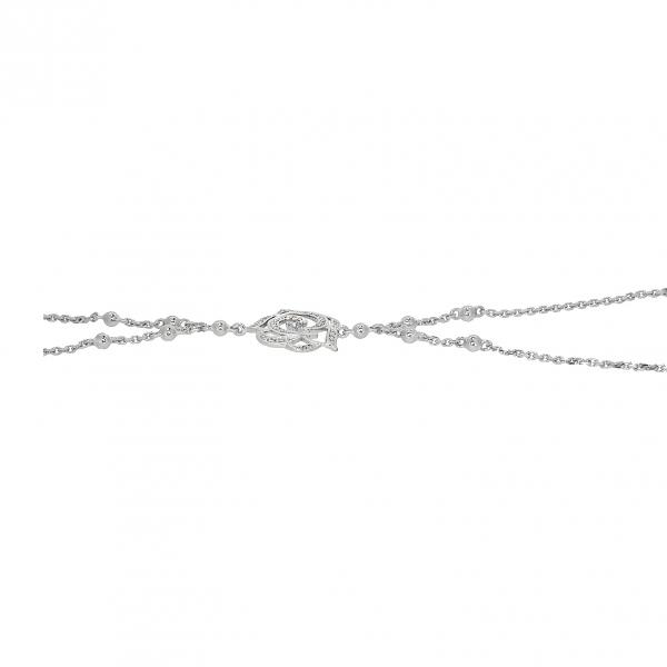 Ювелирный браслет из белого золота 585 пробы с бриллиантами BCD-6822w
